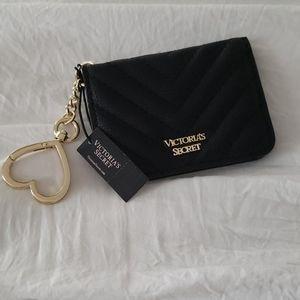 Victoria's Secret Black V Quilt Foldable Keychain